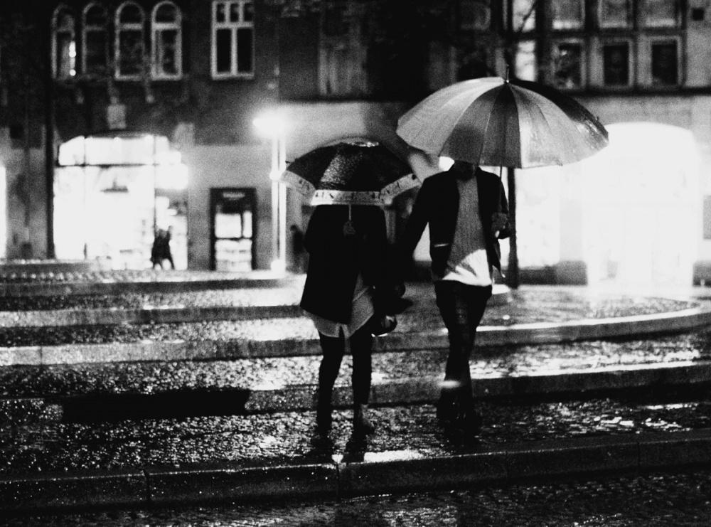 A piece of fine art art photography titled Rainy Night In Amsterdam by Lara Kantardjian