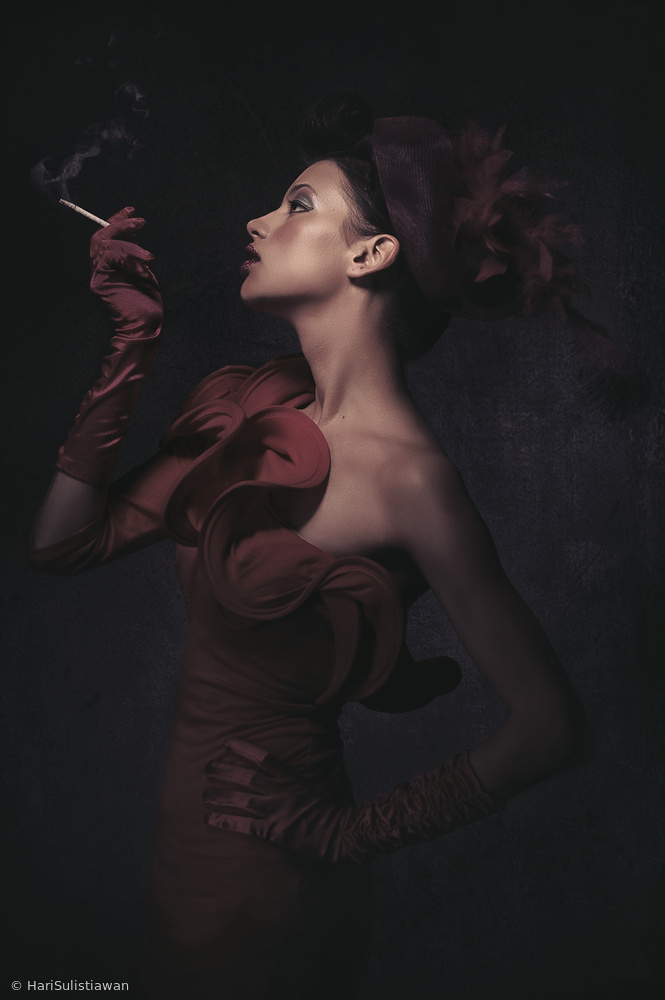 View this piece of fine art photography titled Red Lady by Mohammad Yousefi Manesh