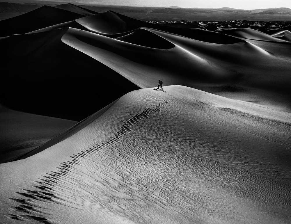 A piece of fine art art photography titled One Set of Footprints by Simon ChengLu
