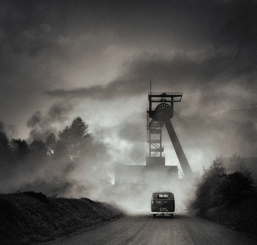 A piece of fine art art photography titled Home Town by holger droste