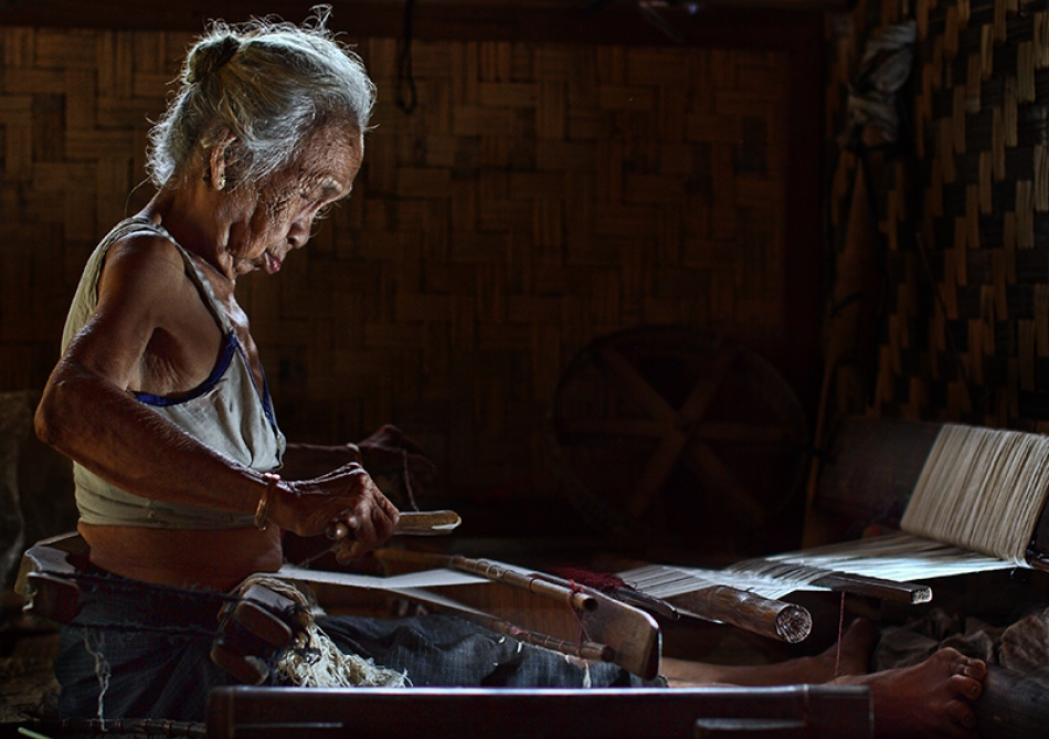A piece of fine art art photography titled Grandmother Weaver by nico fredia
