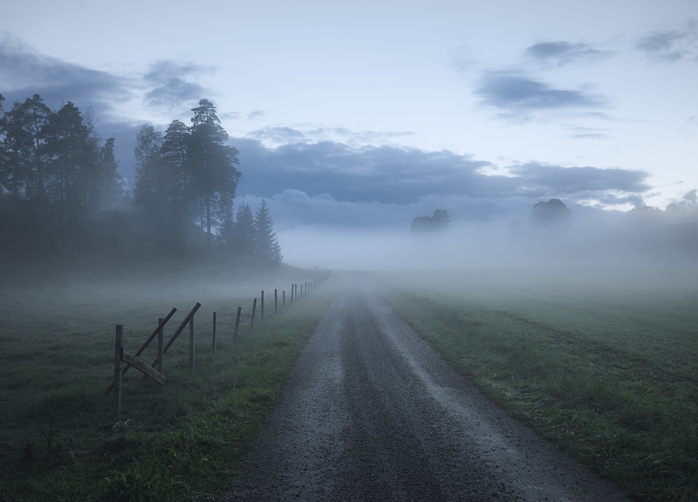 A piece of fine art art photography titled Moody Road by Christian Lindsten