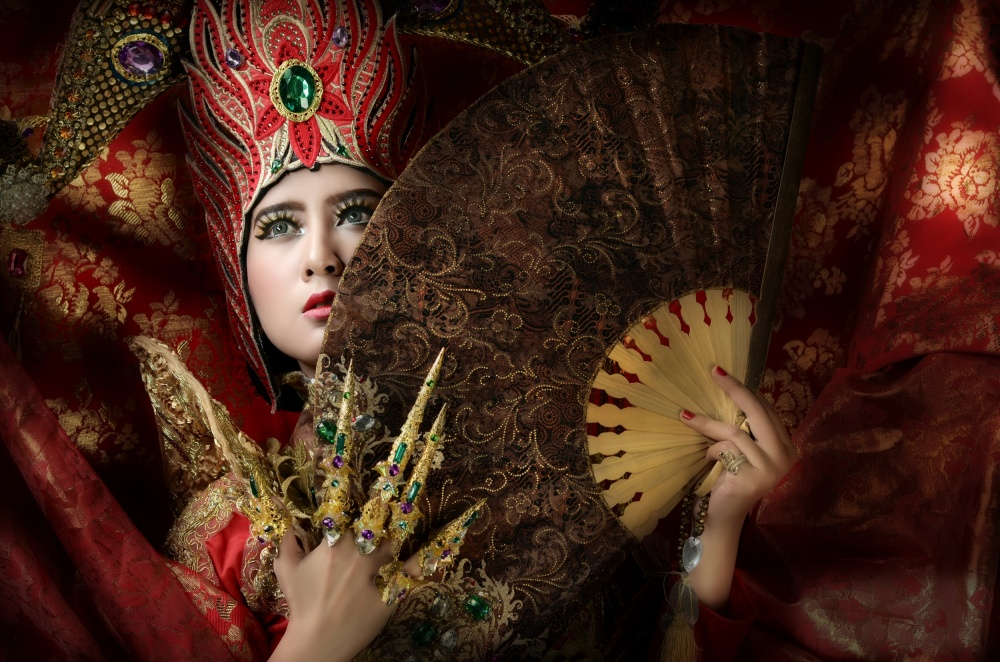 A piece of fine art art photography titled Red In  Potrait by muh ian isvanora