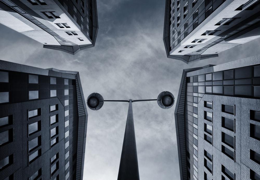 A piece of fine art art photography titled What's Up by Jeroen van de Wiel
