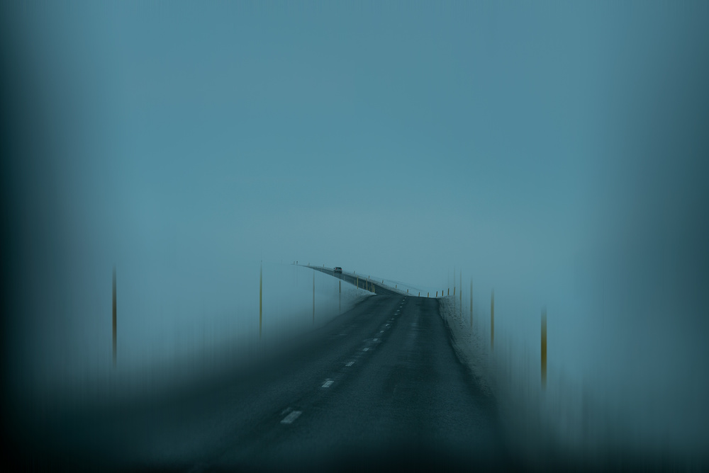 A piece of fine art art photography titled The Road by Bingo Z