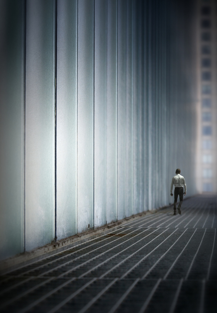 A piece of fine art art photography titled Lost In the City by Marc Apers