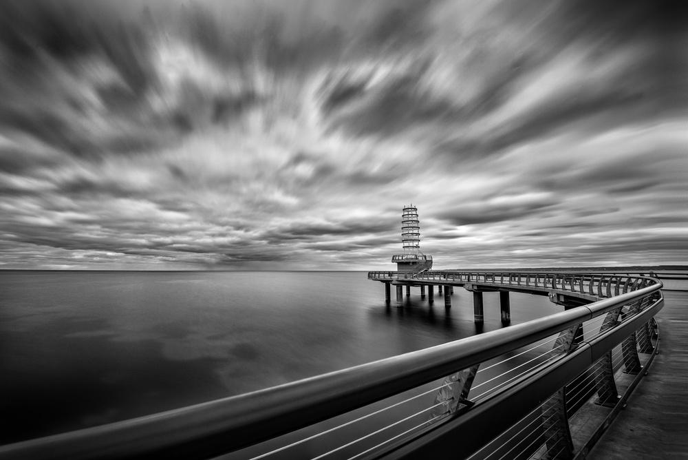 A piece of fine art art photography titled Burlington Pier by Bo Chen