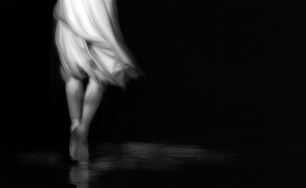 A piece of fine art art photography titled She Moved by Charlaine Gerber