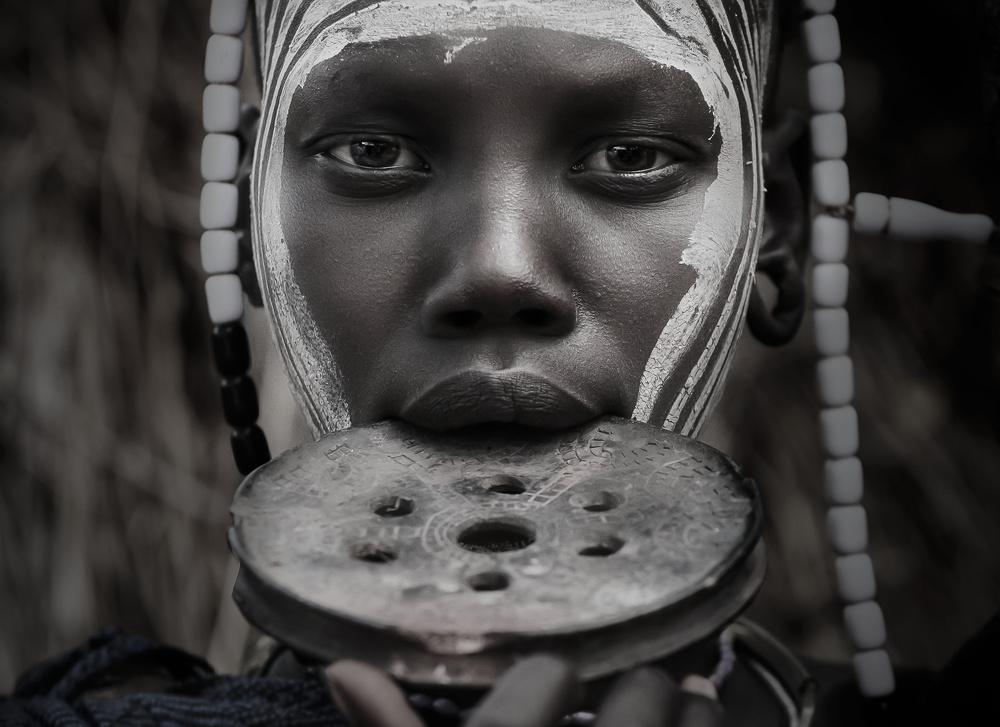 A piece of fine art art photography titled Mursi Soul by salvatore gebbia