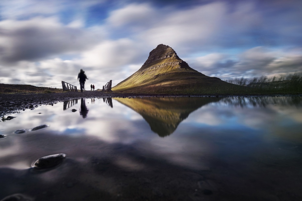A piece of fine art art photography titled Step Into Heaven by Nadav Dov Boretzki