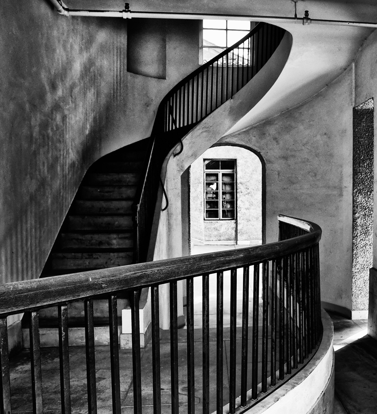 A piece of fine art art photography titled Stairs by David A. Evans