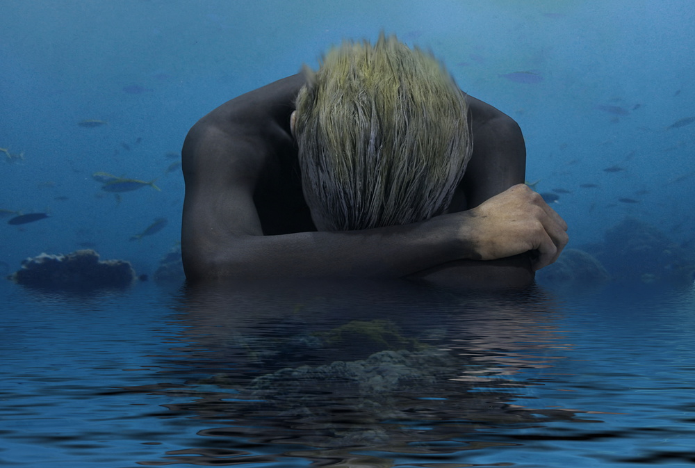 A piece of fine art art photography titled Cry the Beloved Ocean by Gaby Grohovaz