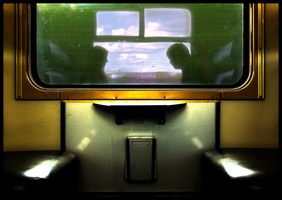 A piece of fine art art photography titled Train Window by Rainbowhead