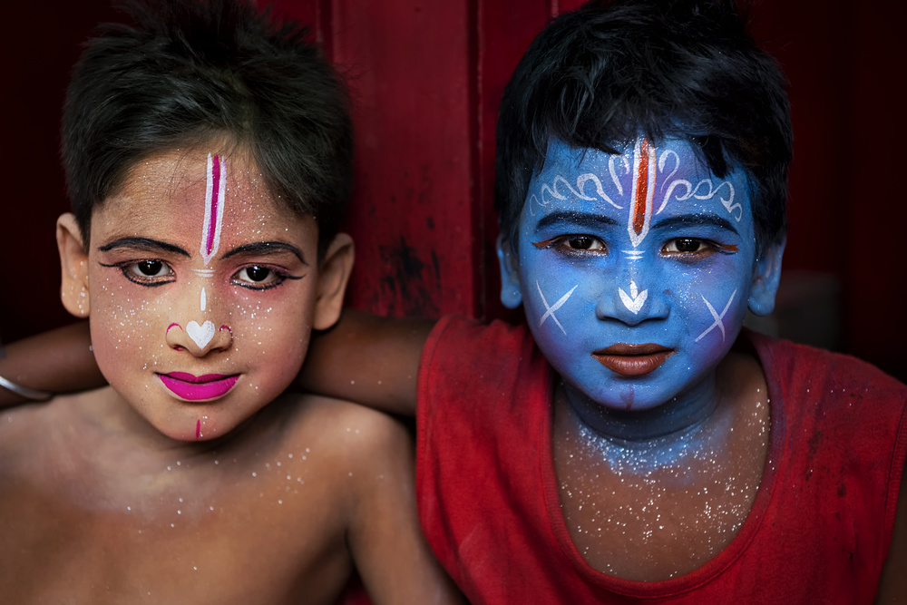 View this piece of fine art photography titled LORD KRISHNA & LORD BALARAMA by Sanghamitra Bhattacharya