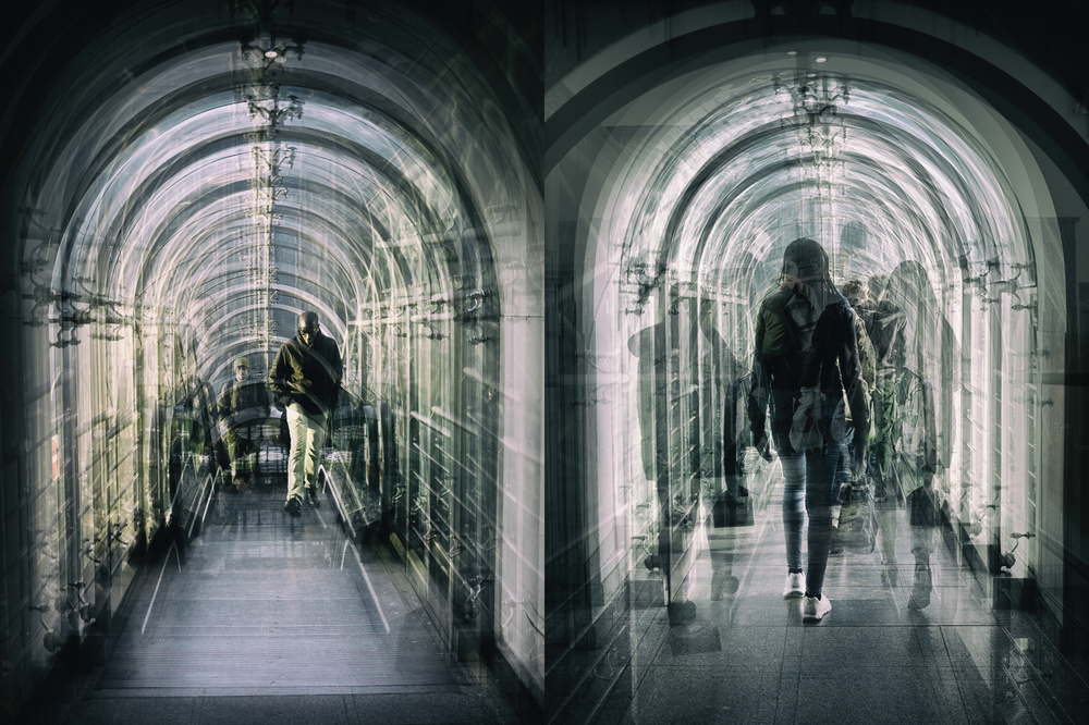 A piece of fine art art photography titled In and Out - Diptych by Thomas Vanoost