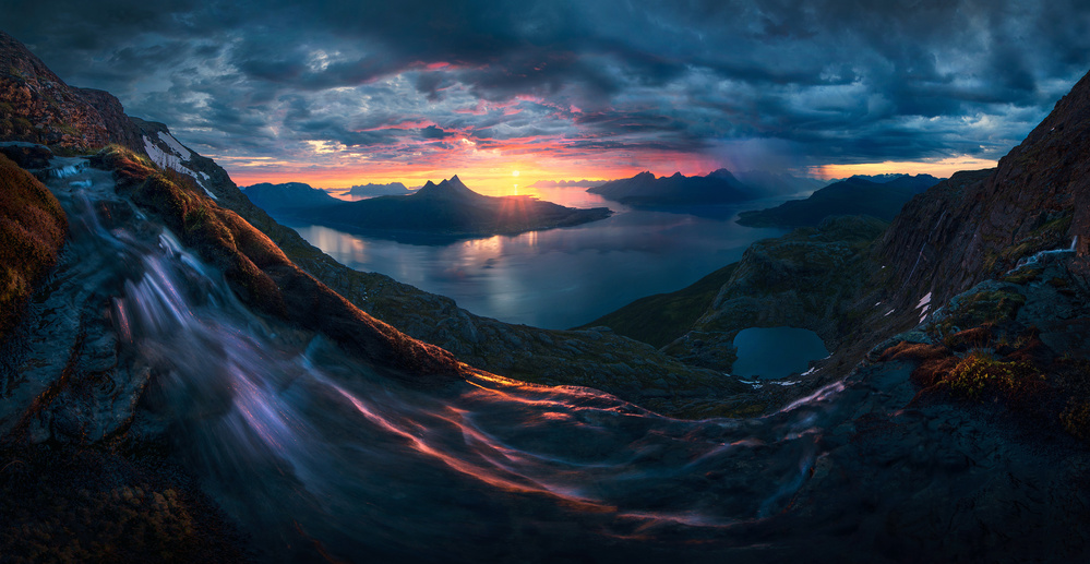 A piece of fine art art photography titled The Perfect Storm by Max Rive
