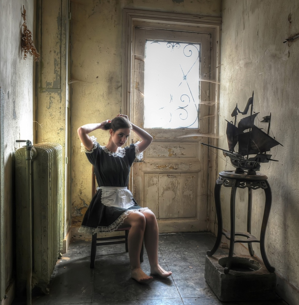 A piece of fine art art photography titled The Maid by Monika Vanhercke