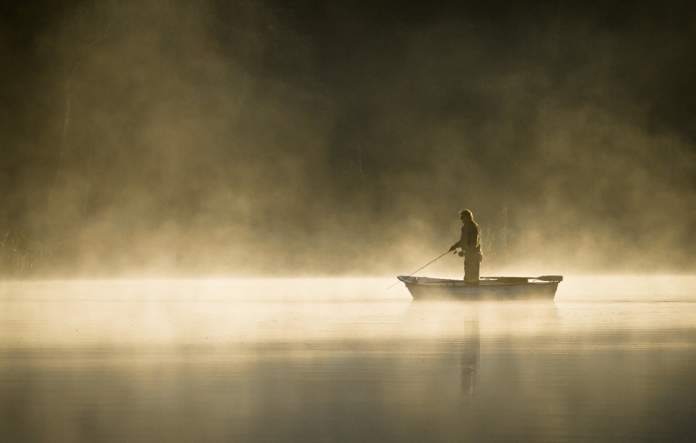 A piece of fine art art photography titled Fishing by Patryk Ignacak