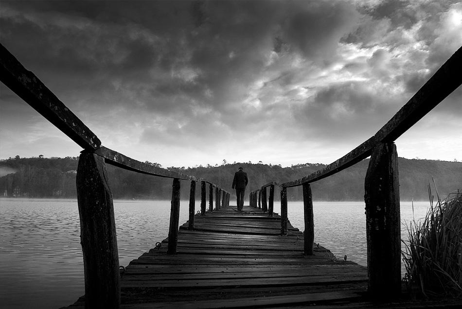 A piece of fine art art photography titled Mysterious Way by Benoit Michelot