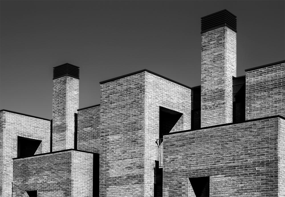 A piece of fine art art photography titled Bricks by Graziano Racchelli