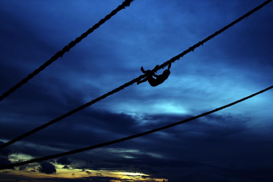 A piece of fine art art photography titled Climbing by Syaiful Akbarius Zainuddin