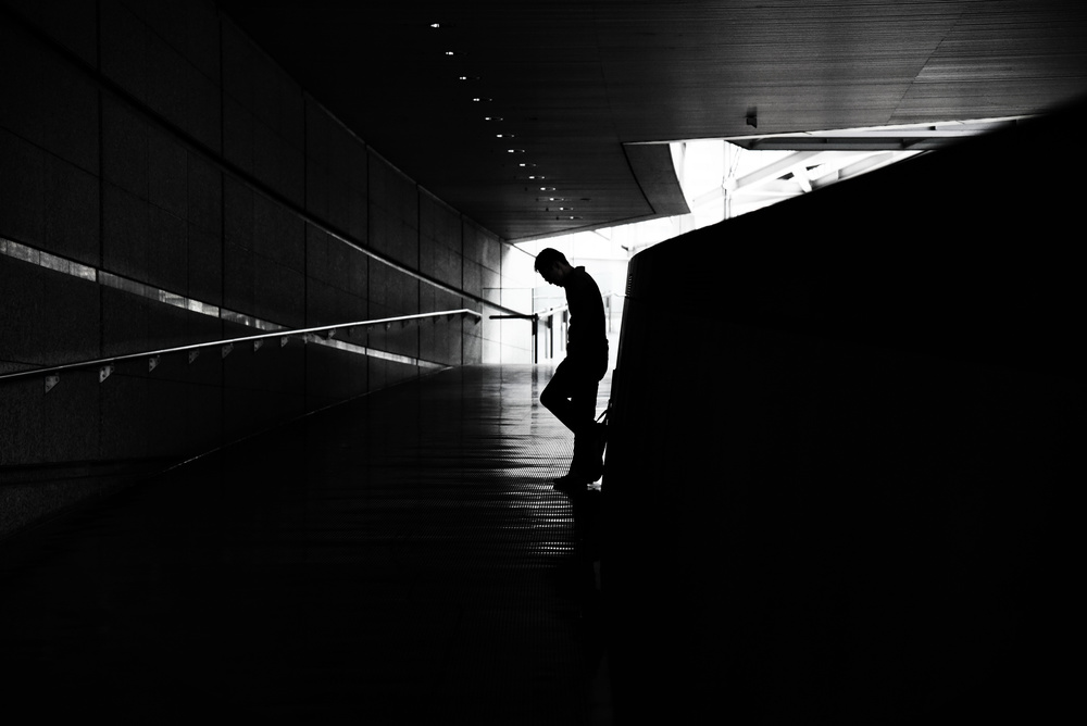 A piece of fine art art photography titled One Silhouette by Reiko kiri