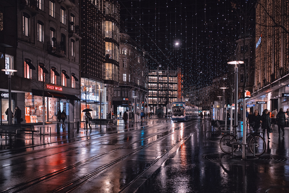 A piece of fine art art photography titled Bahnhofstrasse by C.S. Tjandra