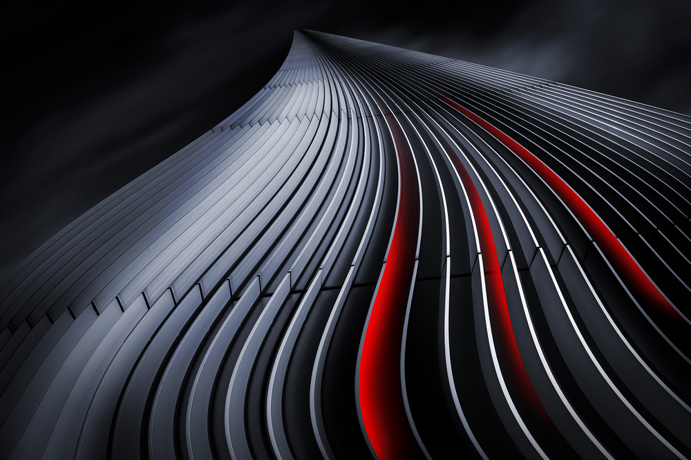 A piece of fine art art photography titled The Winding Paths by Erhard Batzdorf