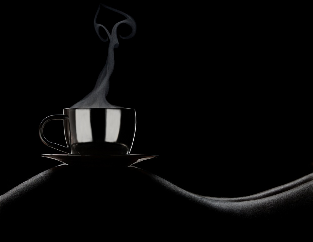 A piece of fine art art photography titled Coffee In Bed by Dmitriy Batenko