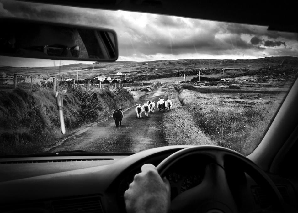 traffic jam in ireland