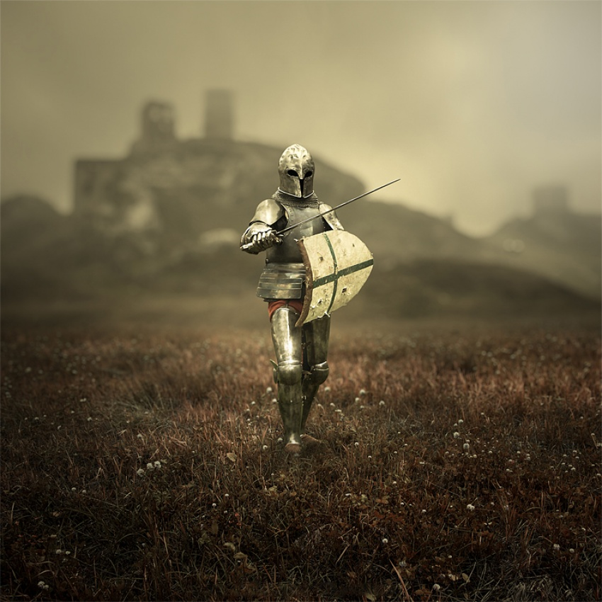 A piece of fine art art photography titled Warrior by Leszek Bujnowski