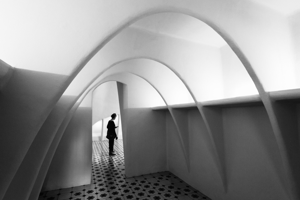 A piece of fine art art photography titled Curved Line by Olavo Azevedo