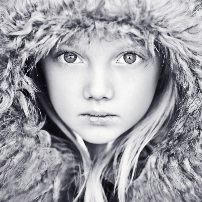 A piece of fine art art photography titled Winter Princess by Magda Berny