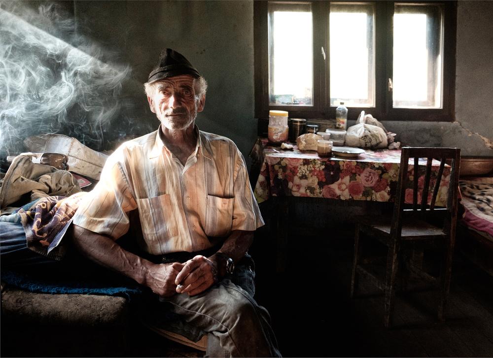 A piece of fine art art photography titled Cigarette Break by Andrei Nicolas - The Traveler