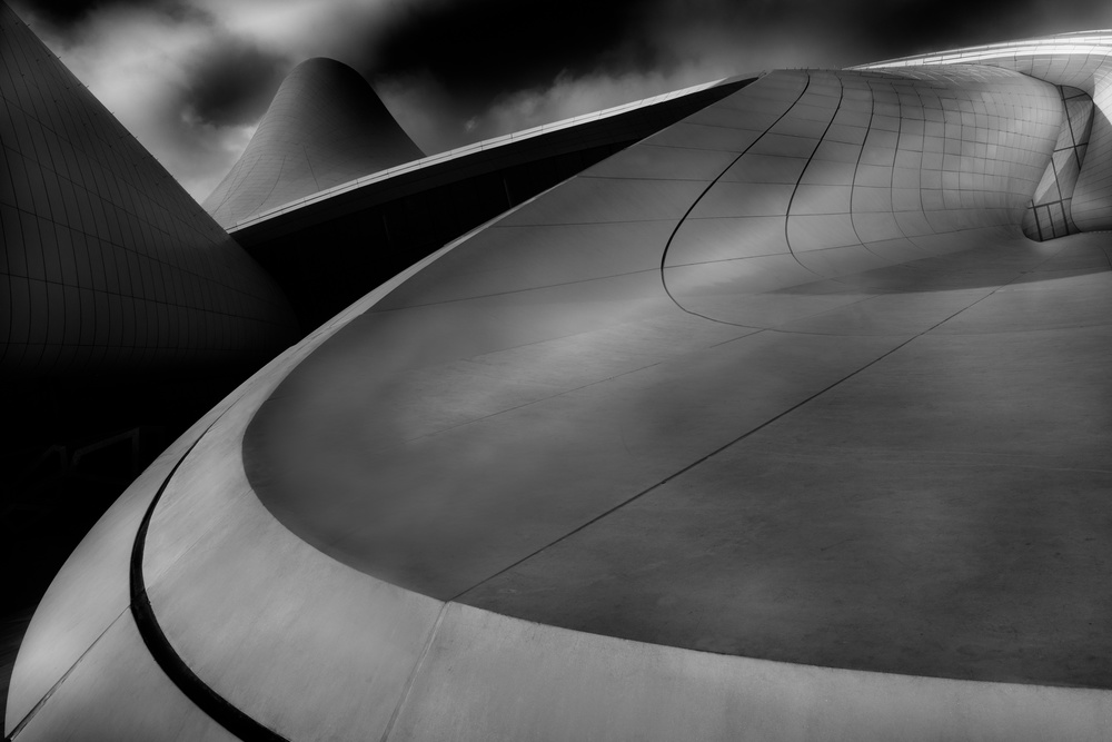 A piece of fine art art photography titled Curved Lines by Olavo Azevedo
