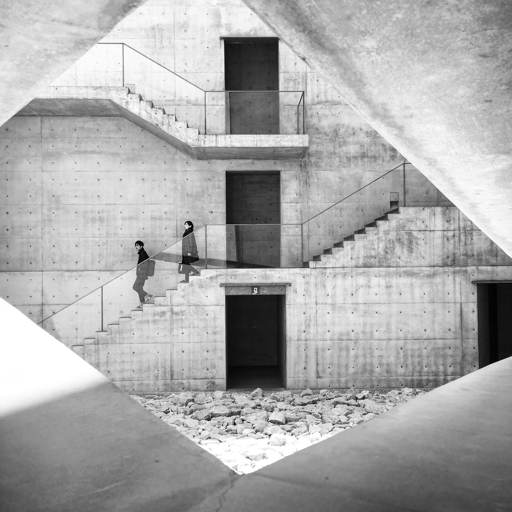 A piece of fine art art photography titled The Concrete Staircase by Lorenzo Grifantini