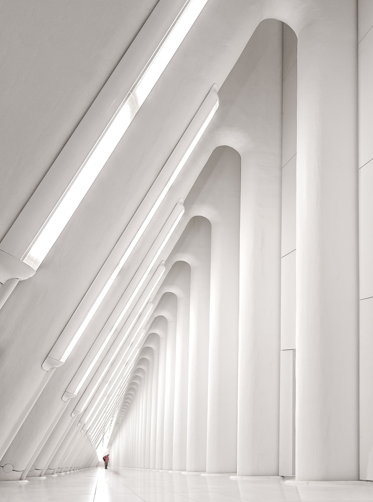A piece of fine art art photography titled World Trade Center (PATH-Station)_2 by Herbert A. Franke