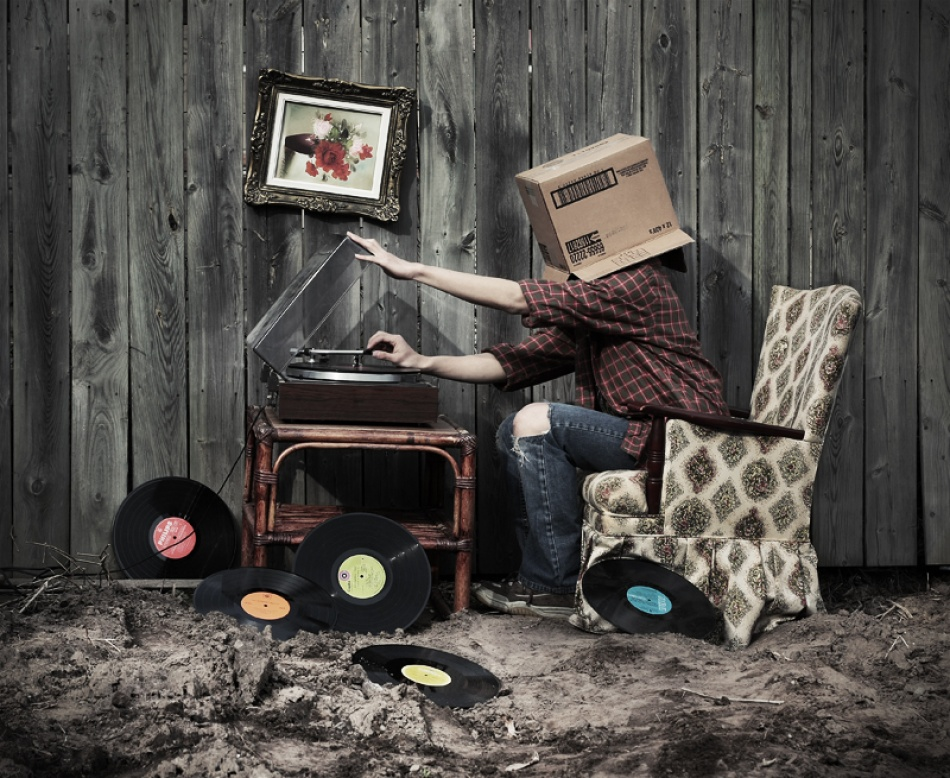 A piece of fine art art photography titled Put Your Records On by Christopher Lim