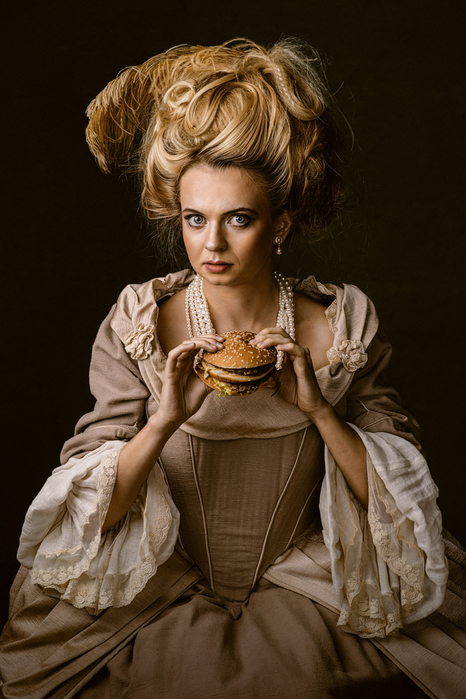 A piece of fine art art photography titled Baroque Brunch by Monot Samuel