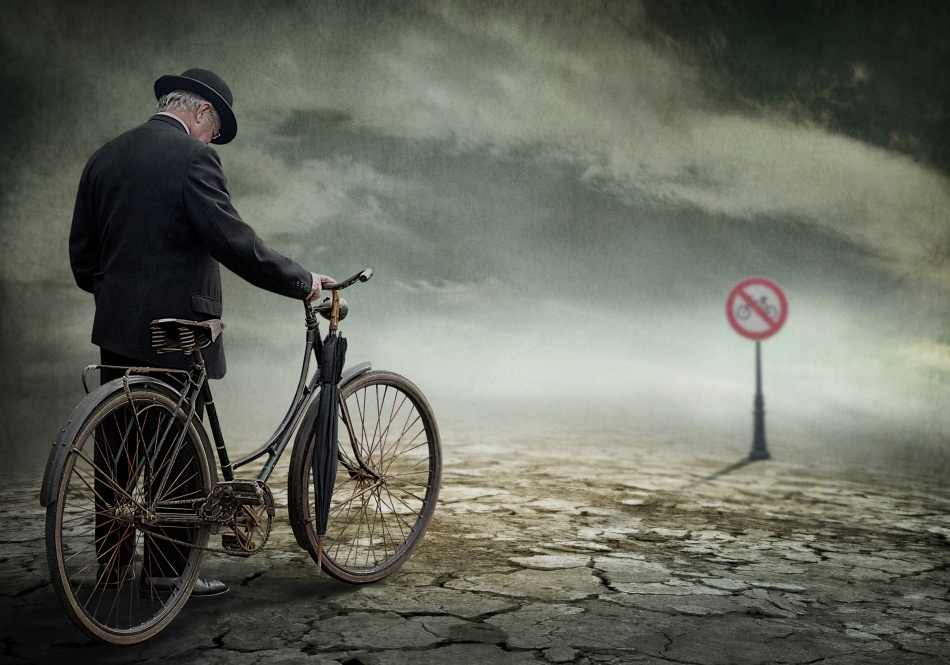 A piece of fine art art photography titled Here It Stops for Most by Ben Goossens