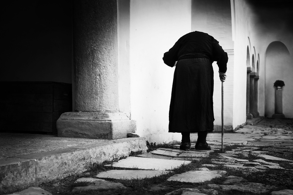 A piece of fine art art photography titled Old Lady by Marius Cinteză