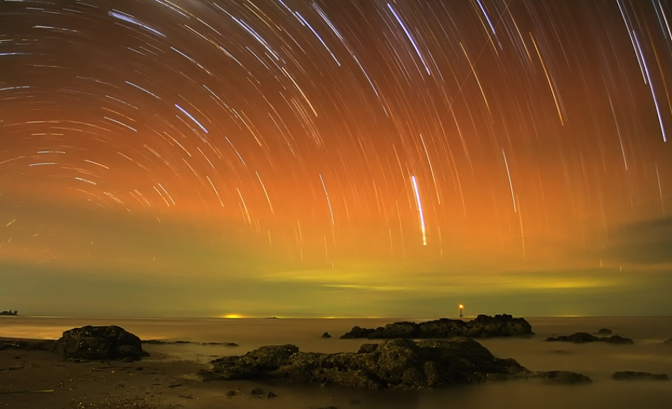 A piece of fine art art photography titled Star Trails by Edy Santosa
