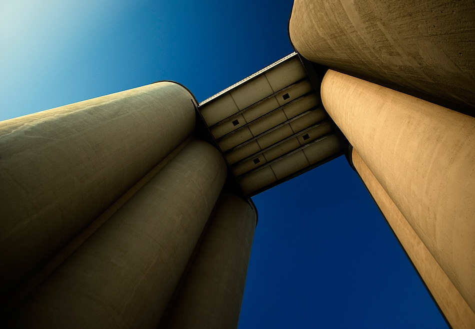 A piece of fine art art photography titled Silo by Mario Jean