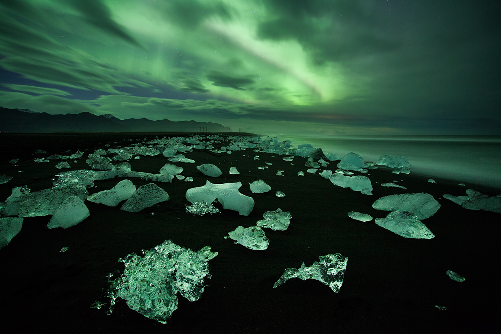 A piece of fine art art photography titled Green Diamonds by Peter Svoboda, MQEP