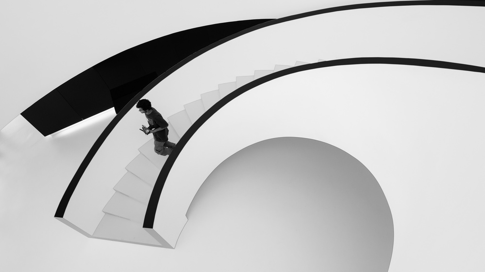 A piece of fine art art photography titled Going Down by João Castro