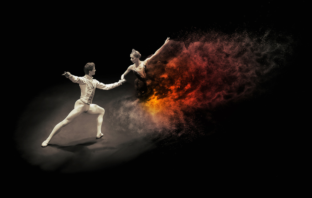 A piece of fine art art photography titled Dance With the  by Zoltan Tot