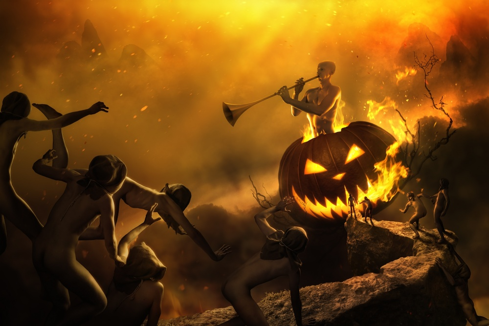 A piece of fine art art photography titled Halloween In Hamelin by Christophe Kiciak