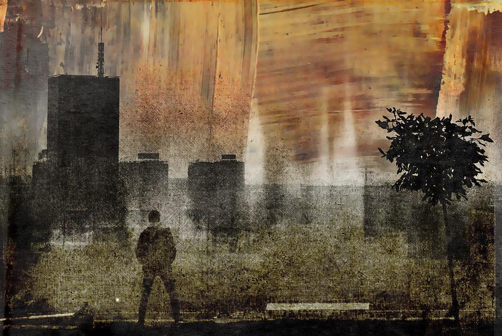 A piece of fine art art photography titled Shadows (one Way) by Dalibor Davidovic
