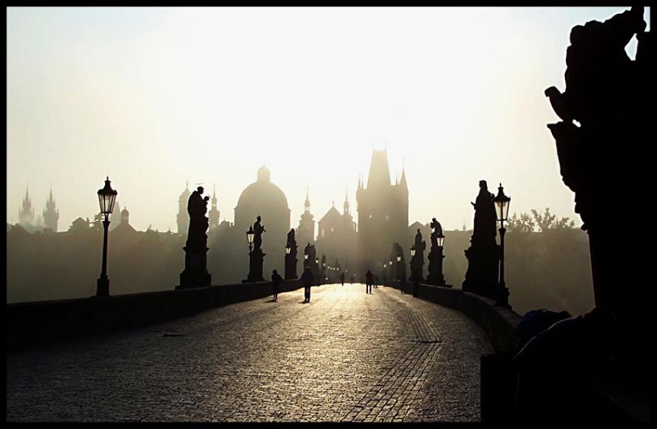 A piece of fine art art photography titled Charles  Bridge by Xaime Villar