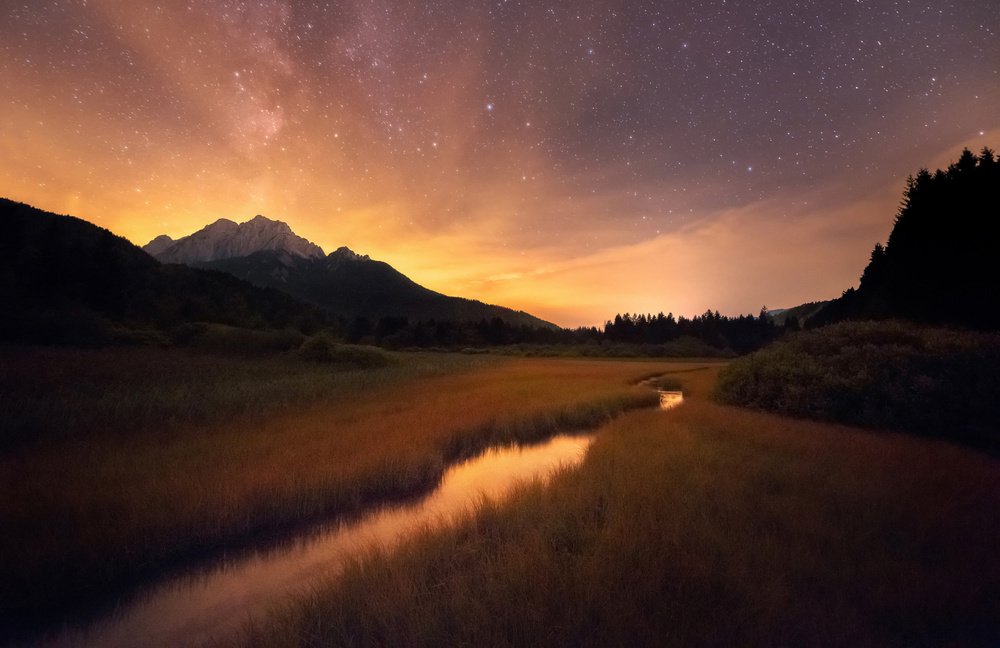 A piece of fine art art photography titled Zelenci Springs by Ales Krivec